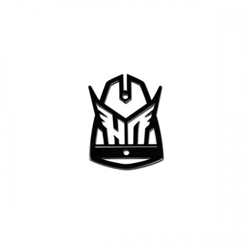 Cross Badge 鋁標 (盾牌)  亮黑色徽章